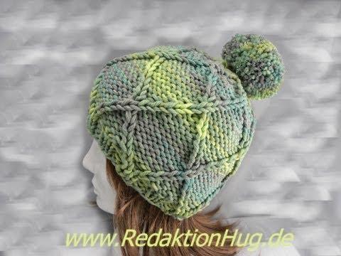Stricken - Mütze - aus Montego von ONline-Garne - Anleitung - YouTube