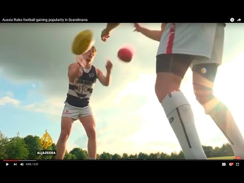 Aussie Rules football gaining popularity in Scandinavia