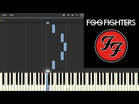 Foo Fighters - The Pretender (Piano Tutorial Synthesia)