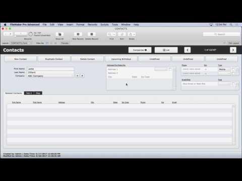 FileMaker Rolodex Find