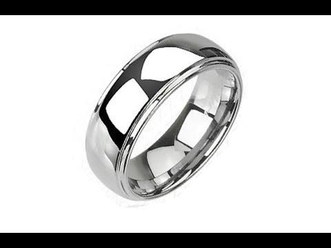 98bc00bca Šperky - Tungstenový - Wolfrámový prsteň lesklý s vyvýšeným stredom ...