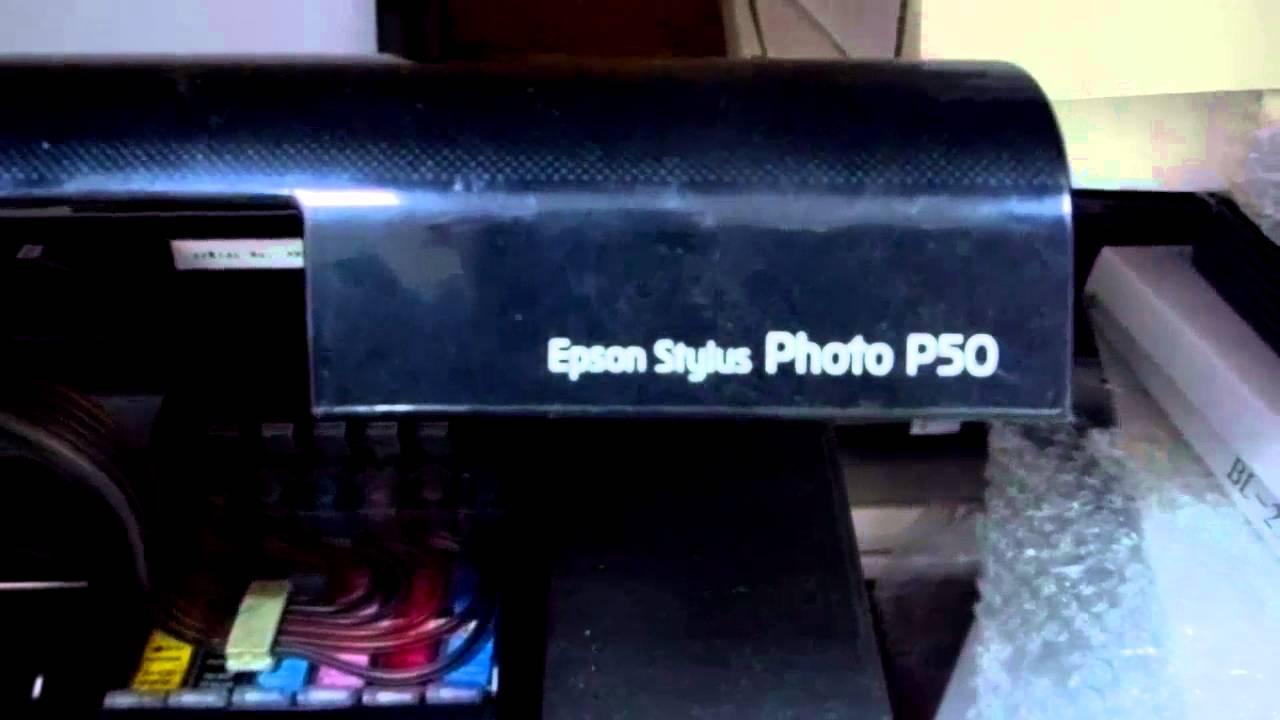 Воздух попал в краску принтера