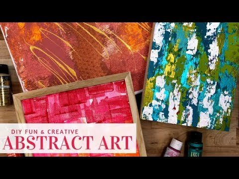 3 DIY Fun & Creative Abstract Art Projects