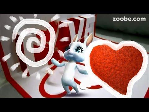 Zoobe Зайка С днем Святого Валентина! - Как поздравить с Днем Рождения