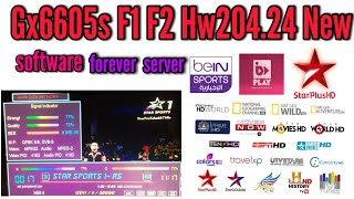 Gx6605s F1 F2 Hw204.24.New software forever server All Channels HD SD Mp4 free