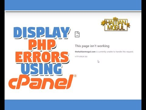 How To Show PHP Errors On File Using Cpanel