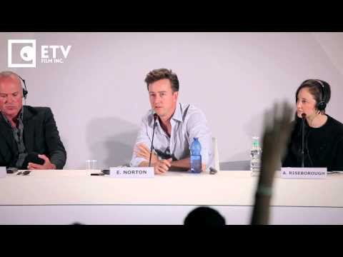 Edward Norton on Birdman and Ryan Gosling, Birdman Press Conference (2014 Venice Film Festival)