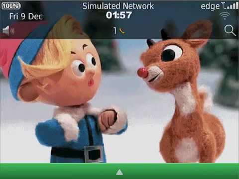 animated-christmas-rudolph-theme-for-blackberry®