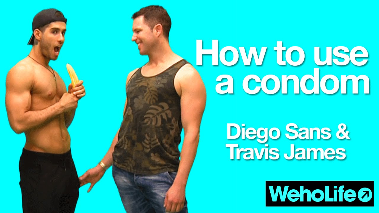 Animal Condum Porn how to use a condom - porn studs diego sans/travis james - weholife