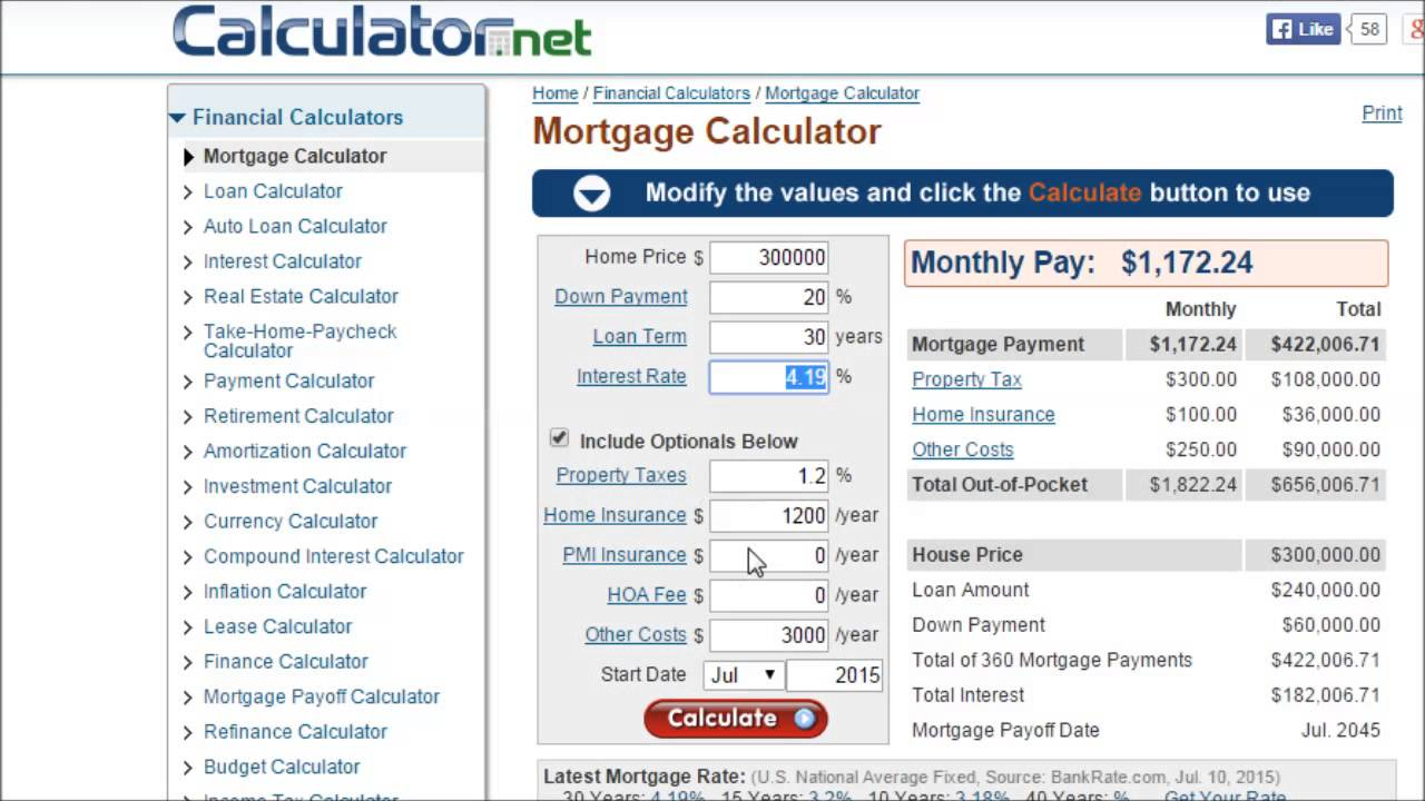 Compound interest calculator with inflation.