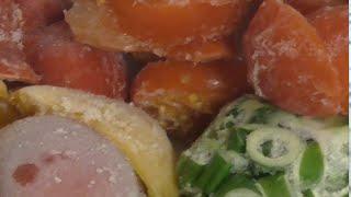 Овощной суп-пюре с грибами  Рецепт витаминного супа из  заможенных овощей