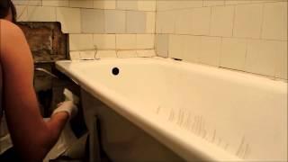 Реставрация ванны своими руками. Шаг 5(Это последний этап реставрации ванны, он такой же важный как и все предыдущие. Ванна уже помыта, высушена,..., 2014-12-07T08:22:46.000Z)