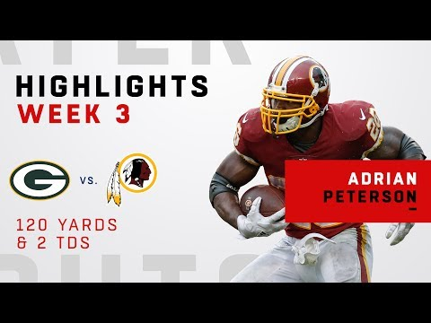 Adrian Peterson Goes Off Against Green Bay w/ 2 TDs