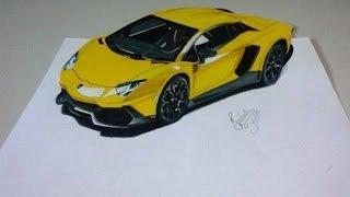 Drawing Lamborghini Aventador 3D | Desenhando Lamborghini em 3D(Desenho em 3D (ou realismo anamórfico) da Lamborghini Aventador LP 750-4 Superveloce!!! Motor 6.0 V12 de 750cv... foi um dos carros mais velozes da ..., 2015-08-26T19:12:31.000Z)