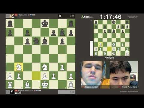 Magnus Carlsen vs Hikaru Nakamura Speed Chess Championship 2017 Final (part 1)