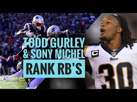 Todd Gurley & Sony Michel Rank RB's 💯33% AMA | The Lefkoe Show