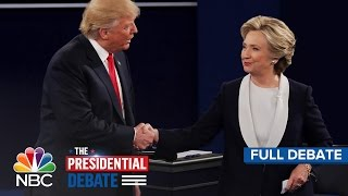 The Second Presidential Debate: Hillary Clinton And Donald Trump (Full Debate) | NBC News(, 2016-10-10T02:55:31.000Z)