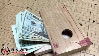 Project - How To Make A Secret Compartment In A Piece Of Scrap 2x4 (band Saw Box)