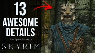 13 AWESOME Details in The Elder Scrolls V: Skyrim