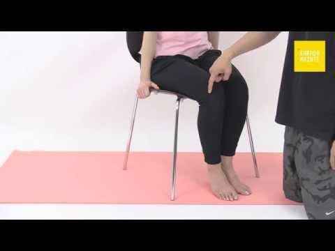 38腸脛靭帯のコンプレッションストレッチ指導法