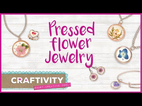 Make Your Own Pressed Flower Jewelry Craft by CRAFTIVITY - Fun, Creative & Trendy Jewelry