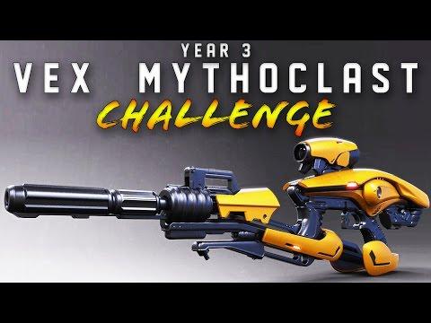 YEAR 3 VEX ONLY CHALLENGE!!!!  6 VEX MYTHOCLASTS in Clash!! (FUNNY DESTINY GUN CHALLENGE)