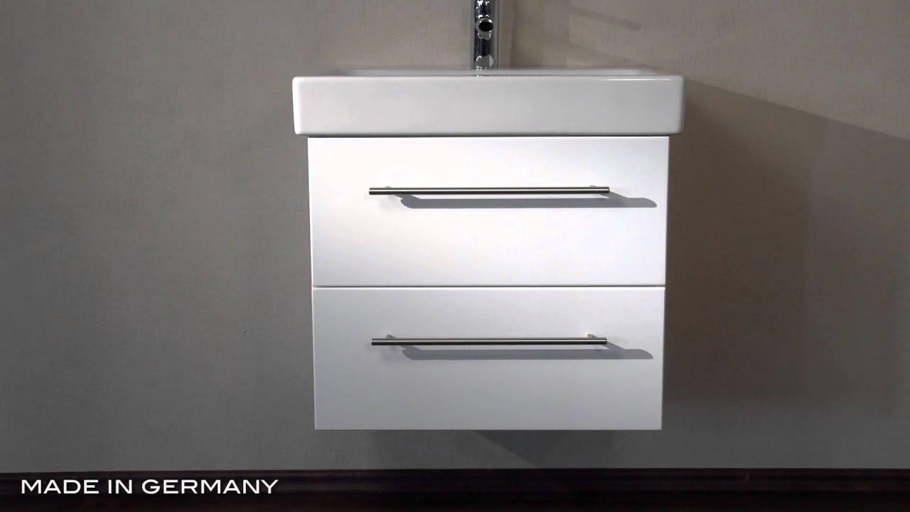 badm bel keramag icon 60 cm weiss hochglanz youtube. Black Bedroom Furniture Sets. Home Design Ideas