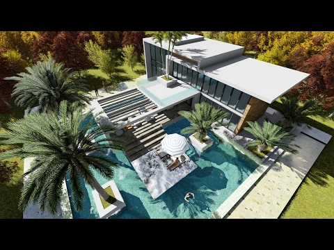 Sketchup modern home buzzpls com for Pool design sketchup