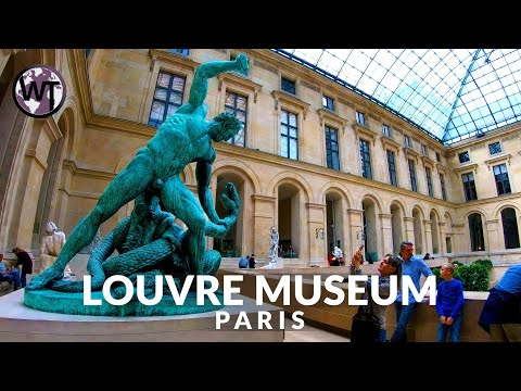 Inside Louvre Museum Paris - Napoleon Apartments - Walking Tour (Part 2)〚𝟒𝐊〛🇫🇷 France