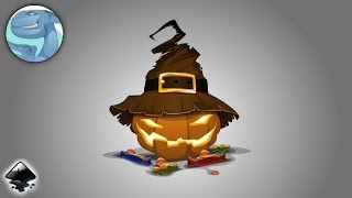 Pumpkin character. Speed vector art with Inkscape.