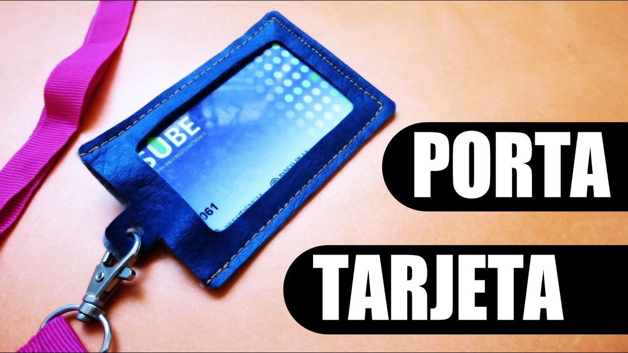 Diy porta tarjeta o credencial youtube - Fundas de plastico para tarjetas ...
