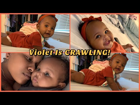 Baby Is Finally A Crawler At 7 Months!! Funny Baby Faces!! + Organizing Clothes