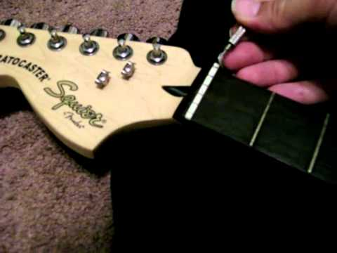 How To Turn A Left Hand Guitar Right Or Change Nut On Your