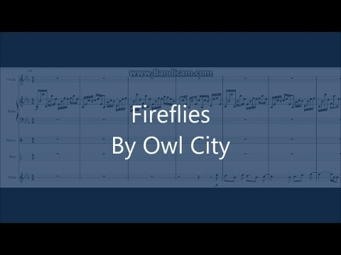 Fireflies Owl City Cover Pianodrumsbassviolinvocals Sheet