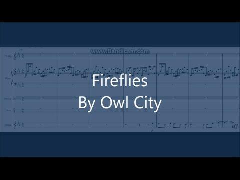 FIREFLIES | Owl City Cover Piano/Drums/Bass/Violin/Vocals Sheet Music