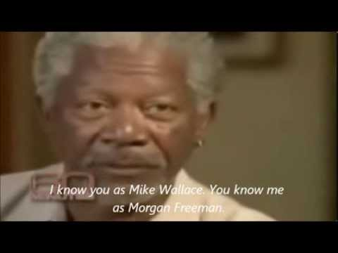 Morgan Freeman Black History Month with Subtitle