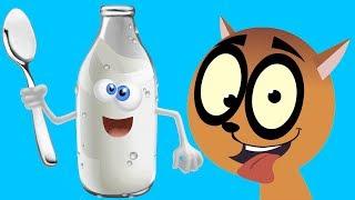 Мультфильм для детей про Игры Котенок за Молоком FineKidsTV
