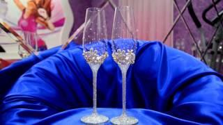 Свадебные бокалы со стразами https://vk.com/club53829666