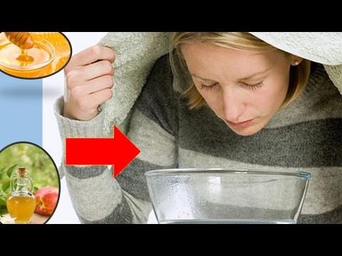 Vapores caseros para aliviar la sinusitis (curar sinusitis)