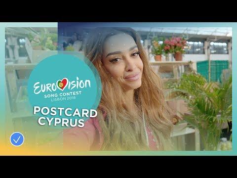 Postcard of Eleni Foureira from Cyprus - Eurovision 2018