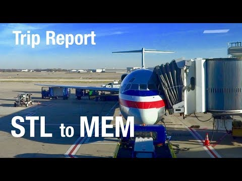 TRIP REPORT - American Airlines (MD-80), St Louis to Memphis