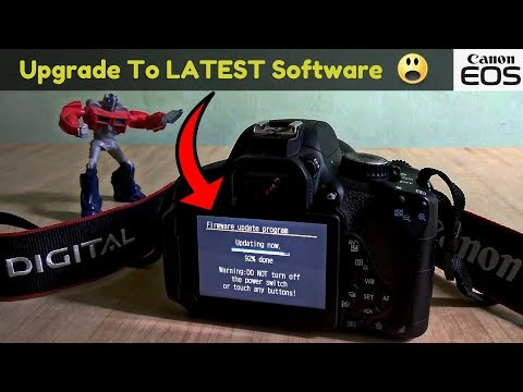 Upgrade The Firmware On Canon DSLR's(200D,700D,80D,1300D...) |Upgrade The Software Of Any Canon DSLR