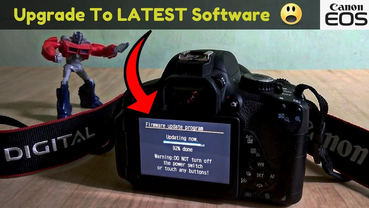 Upgrade The Firmware On Canon DSLR's(200D,700D,80D,1300D   ) |Upgrade The  Software of Any Canon DSLR