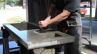 Gfrc Concrete Countertop Wet Polishing, Solid State Concrete Design, Http://solidstateconcrete.com/