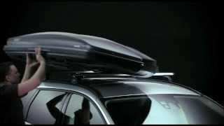 видео Грузовые боксы (закрытые багажники) на крышу автомобиля