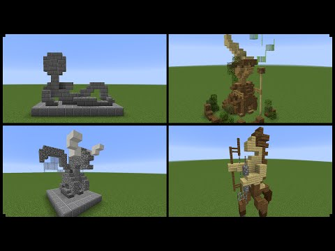 10+ Minecraft Statue Designs! (And How To Make One)