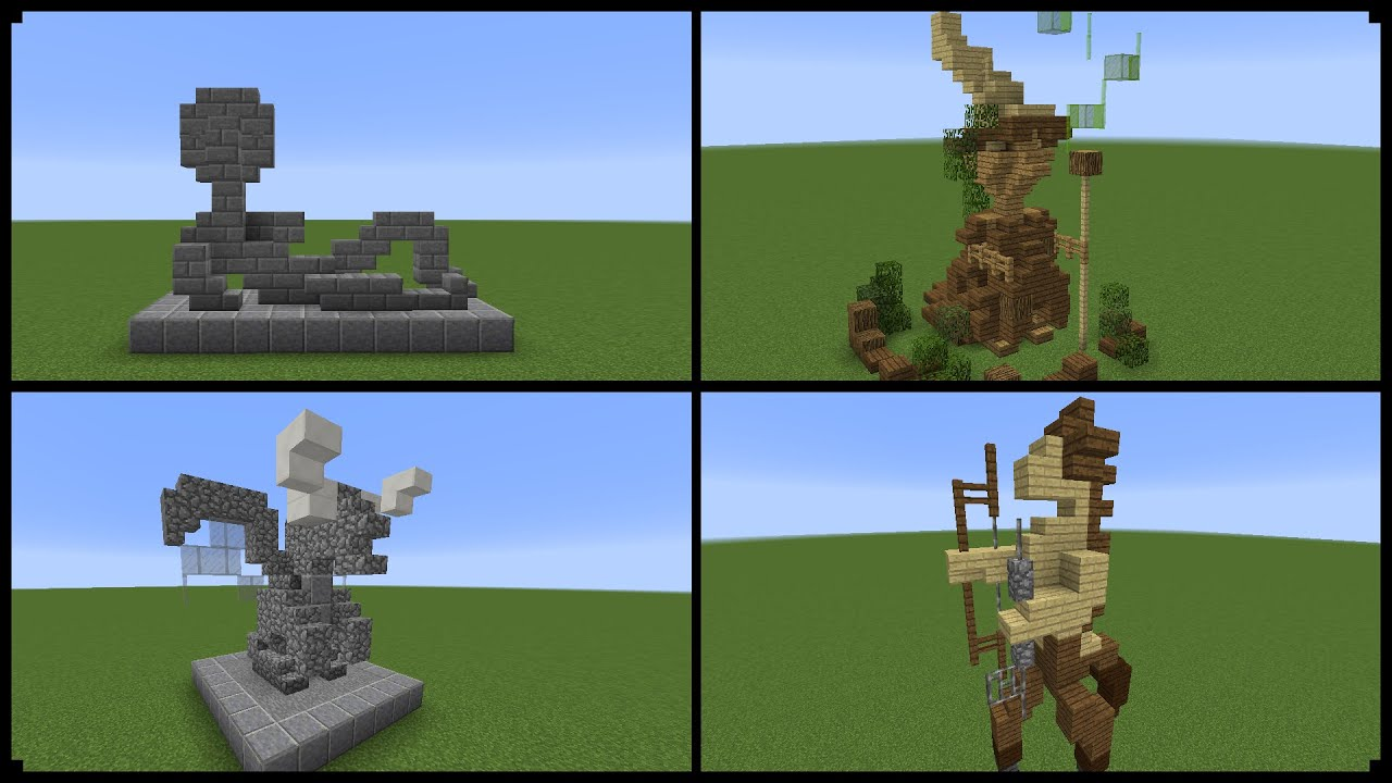 10 Minecraft Statue Designs And How To Make One Youtube
