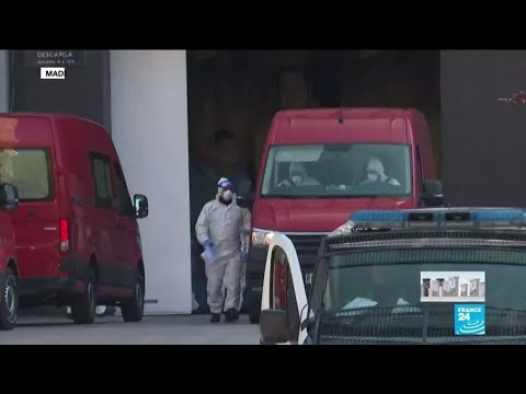 Coronavirus - Covid-19: À Madrid, la patinoire transformée en morgue géante