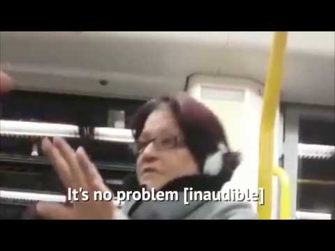 Racist woman verbally abuses two Asian women on a train