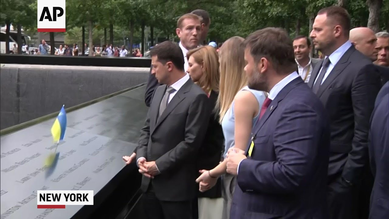 Ukraine's Zelenskiy tours 9/11 Memorial